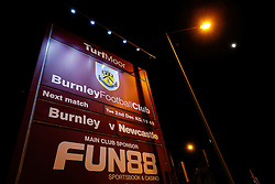 General View of the fixture board outside before the match - Photo mandatory by-line: Rogan Thomson/JMP - 07966 386802 - 02/12/2014 - SPORT - FOOTBALL - Burnley, England - Turf Moor Stadium - Burnley v Newcastle United - Barclays Premier League.