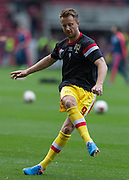 Dean Bowditch (Milton Keynes Dons) warms up before the Sky Bet Championship match between Middlesbrough and Milton Keynes Dons at the Riverside Stadium, Middlesbrough, England on 12 September 2015. Photo by George Ledger.