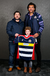 Steven Luatua of Bristol Rugby poses with his sponsors during the Bristol Sport player sponsor evening - Rogan/JMP - 19/03/2018 - SPORT - Ashton Gate Stadium - Bristol, England - Big Sports Breakfast 2017.