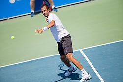 Lukas Rosol (CZE) play against Filip Krajinovic (SRB) at ATP Challenger Zavarovalnica Sava Slovenia Open 2017, on August 8, 2017 in Sports centre, Portoroz/Portorose, Slovenia. Photo by Urban Urbanc / Sportida