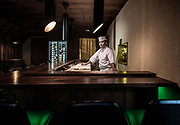 Stavanger, Sabi Omakase Restaurant, the first winning a  Michelin star. the chef  ROGER ASAKIL JOYA