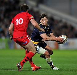 Ryan Mills of Worcester Warriors in possession - Photo mandatory by-line: Patrick Khachfe/JMP - Mobile: 07966 386802 27/05/2015 - SPORT - RUGBY UNION - Worcester - Sixways Stadium - Worcester Warriors v Bristol Rugby - Greene King IPA Championship Play-off Final (Second leg)