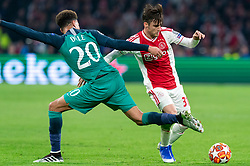 08-05-2019 NED: Semi Final Champions League AFC Ajax - Tottenham Hotspur, Amsterdam<br /> After a dramatic ending, Ajax has not been able to reach the final of the Champions League. In the final second Tottenham Hotspur scored 3-2 / Nicolas Tagliafico #31 of Ajax, Dele Alli #20 of Tottenham Hotspur