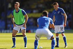 Bristol Rovers players warm up ahead of the match - Mandatory by-line: Richard Calver/JMP - 05/05/2018 - FOOTBALL - Roots Hall - Southend-on-Sea, England - Southend United v Bristol Rovers - Sky Bet League One