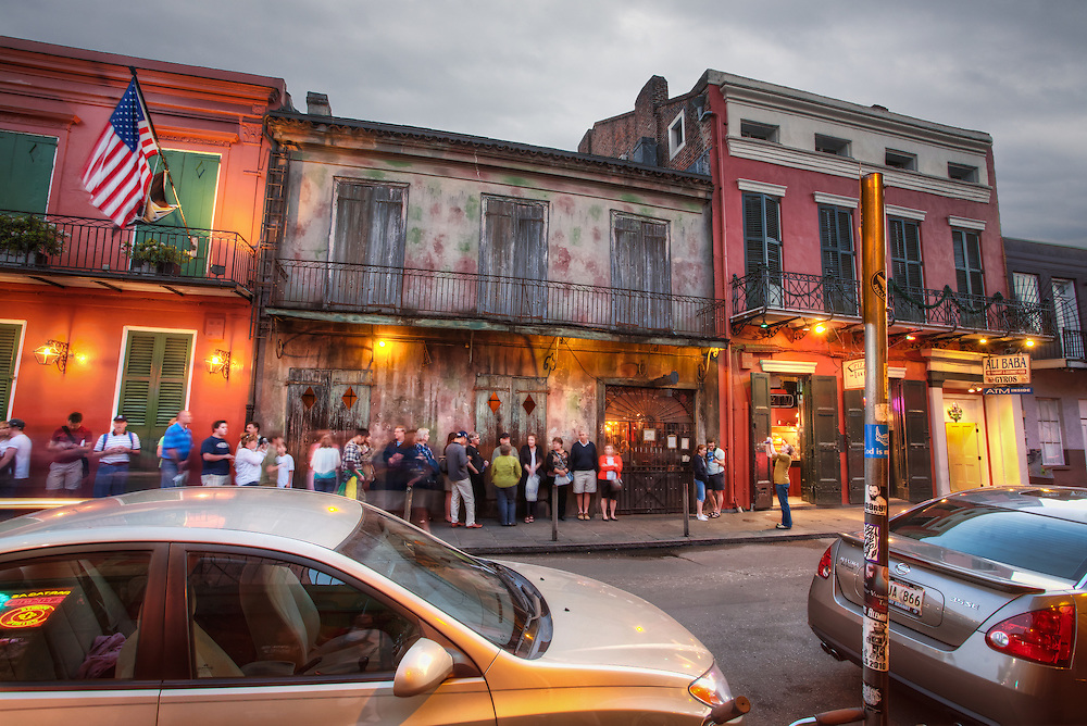 Preservation Hall jazz club in New Orleans