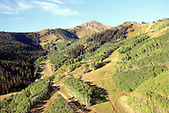 aerial view of Park City Mountain Resort and Jupiter Peak, Utah USA