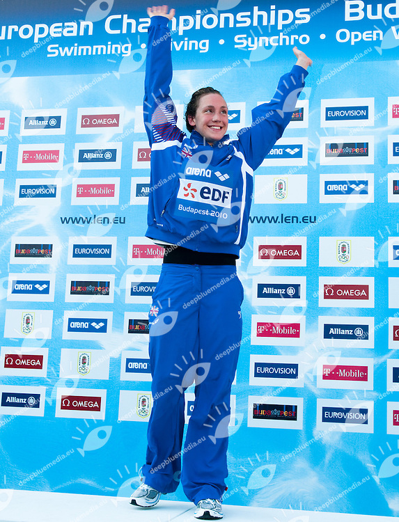 Budapest European Championships 2010.in Swimming, Diving, Synchronised Swimming, Open Water Swimming.Day 7.Swimming.200m Back Women.Gold Medal           Simmonds Elisabeth    GBR.Silver Medal         Spofforth Gemma          GBR.Bronze Medal       Da Rocha Marce Duane    ESP..photo: Deepbluemedia.eu