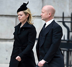 Foreign Secretary William Hague and wife Ffion attend the funeral service of Baroness Thatcher, St Paul's Cathedral, London, UK, Wednesday 17 April, 2013, Photo by: i-Images