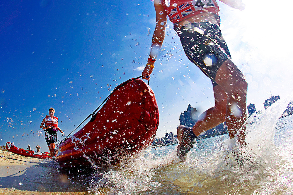 4th Annual Abu Dhabi Adventure Challenge..December 10th through December 15th, 2010. ..The Abu Dhabi Adventure Challenge (ADAC) is a 6 Day staged endurance race consisting of disciplines such as mountain biking, trekking, canoeing, sea kayaking, abseiling, running, and swimming. Coed teams of 4 will attempt to tame this beast of a course through the beautiful Emirate of Abu Dhabi, UAE..Photo by Chris Radcliffe
