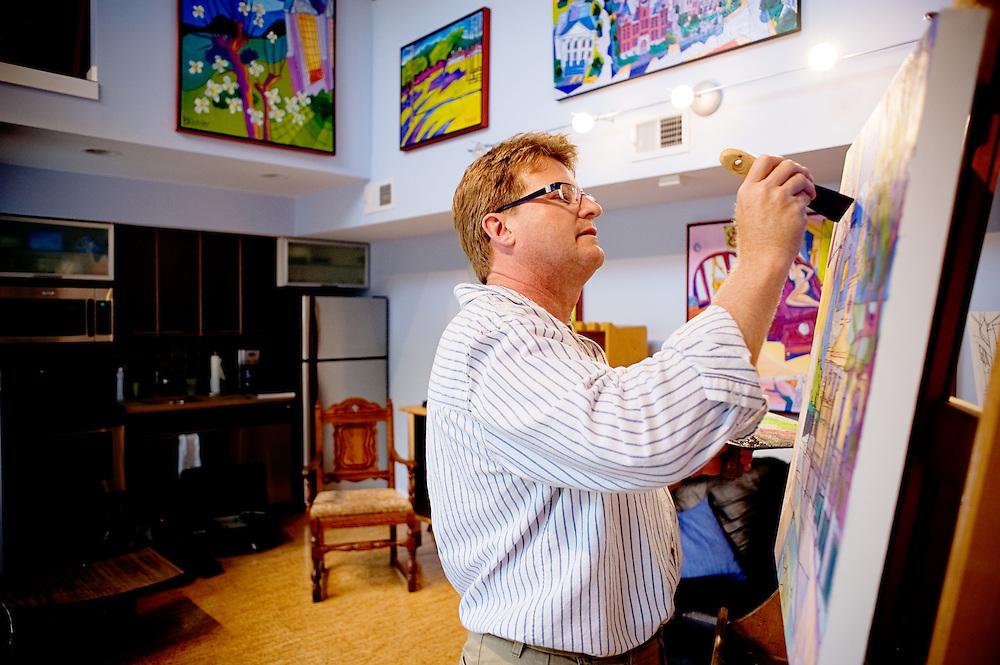Artist Bruce Bowman