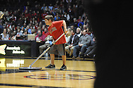 Max Williams cleans the floor at Ole Miss vs. Texas A&M in Oxford, Miss. on Wednesday, February 27, 2013.