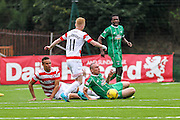 Celtic FC Midfielder Scott Brown getting fouled during the Ladbrokes Scottish Premiership match between Hamilton Academical FC and Celtic at New Douglas Park, Hamilton, Scotland on 4 October 2015. Photo by Craig McAllister.