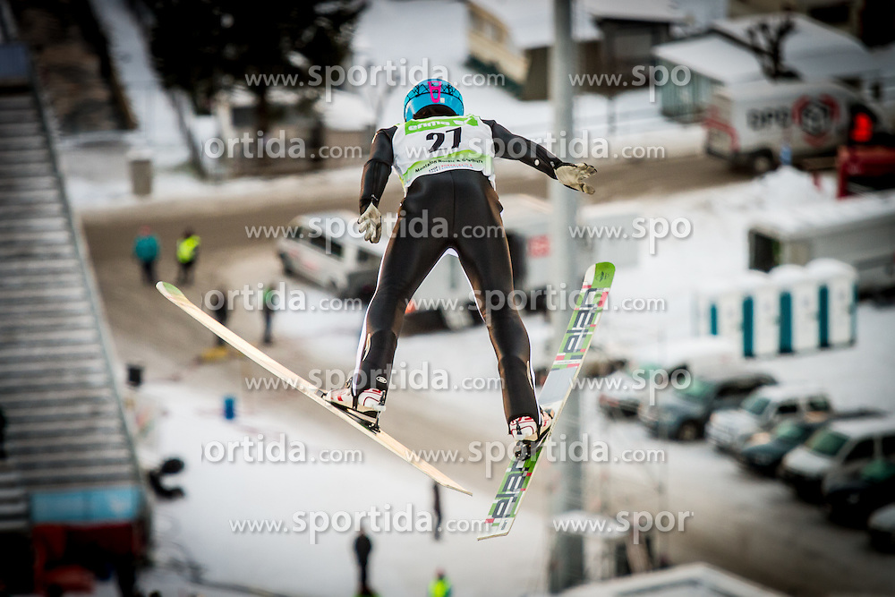 Jaka Matko competing in Nordic Combined at 12th European Youth Olympic Winter Festival in Verarlberg and Liehtenstein on January 26, 2015. (Photo by Peter Kastelic / Sportida.com)