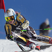 Lavinia Chrystal, Australia, in action during the Women's Giant Slalom competition at Coronet Peak, New Zealand during the Winter Games. Queenstown, New Zealand, 23rd August 2011. Photo Tim Clayton