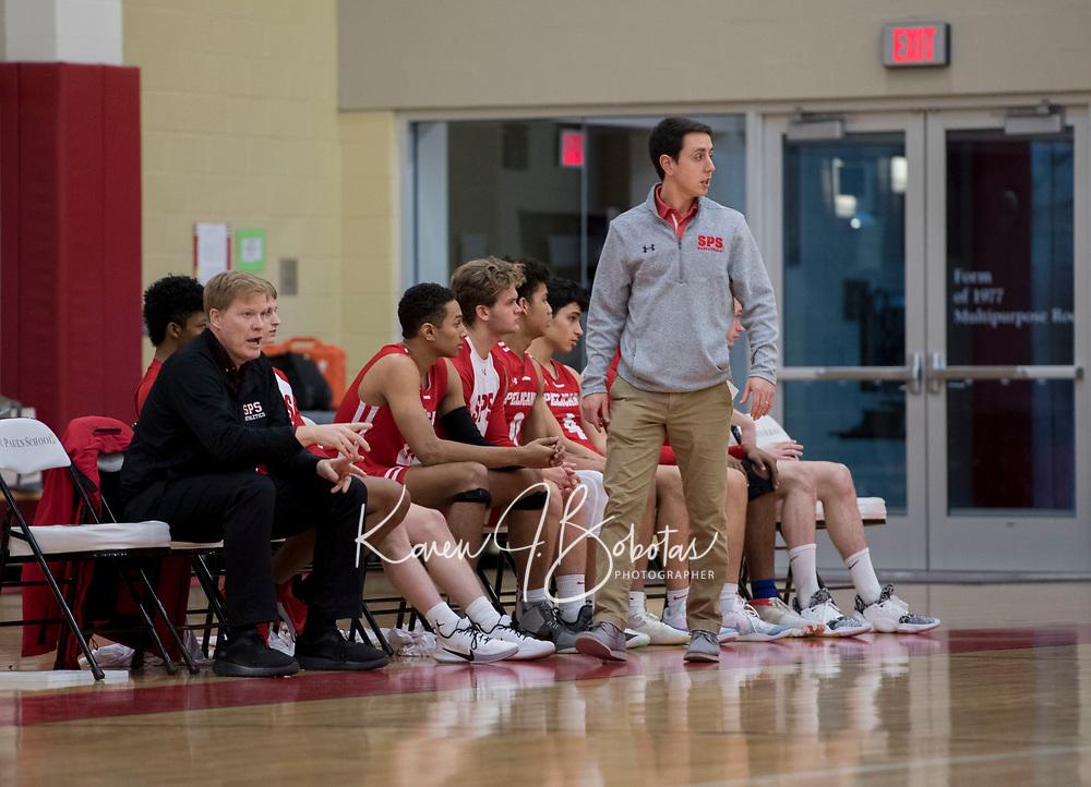 St Paul's School varsity basketball.  ©2020 Karen Bobotas Photographer