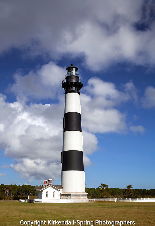 NC00803-00...NORTH CAROLINA - Bodie Island Lighthouse on Bodie Island along the Outer Banks in Cape Hatteras National Seashore.