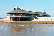 The rowing training center in tel Aviv, Israel, on the Yarkon River front