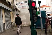PARIS, FRANCE – SEPTEMBER 24, 2012: Blues-rock guitarist  and street performer René Miller.