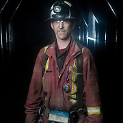 Paul Monster, a blasting technicial at Cantung Mine in the Northwest Territories. March 4, 2013.