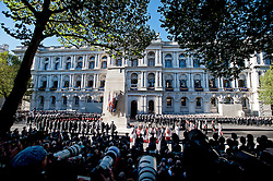© London News Pictures. 10/11/2013. London, UK. <br /> Remembrance Day Ceremony at the Cenotaph war memorial in London, United Kingdom, on November 10, 2013 . Royalty and Politicians joined the rest of the county in honouring the war dead by gathering at the iconic memorial to lay wreaths and observe two minutes silence. Photo Credit: Ben Cawthra/LNP
