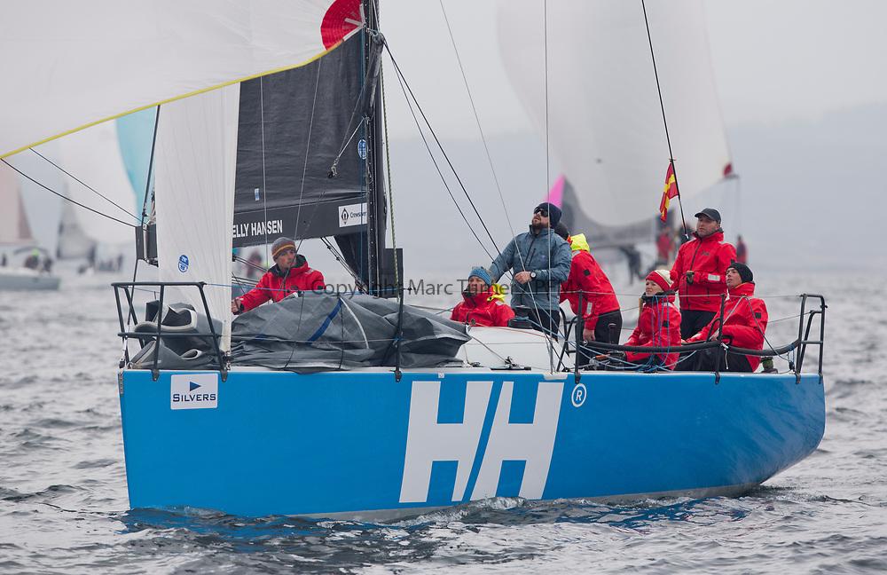 Silvers Marine Scottish Series 2017<br /> Tarbert Loch Fyne - Sailing<br /> <br /> GBR 732R, Wildebeeste, Craig Latimer, Ker 32<br /> <br /> Credit: Marc Turner / CCC