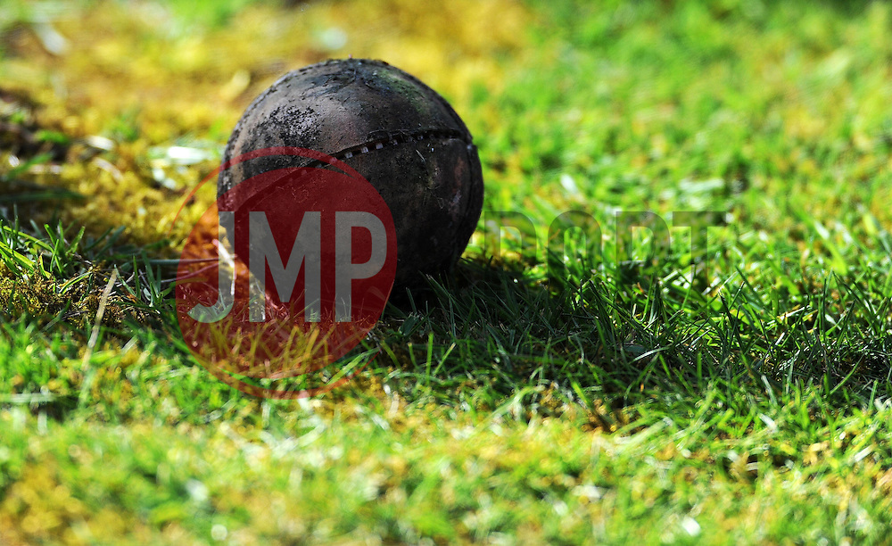 General view as an old cricket ball lies on the boundary - Photo mandatory by-line: Harry Trump/JMP - Mobile: 07966 386802 - 12/04/15 - SPORT - CRICKET - LVCC County Championship - Day 1 - Somerset v Durham - The County Ground, Taunton, England.