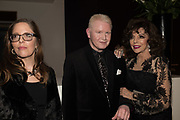 MARK MCMORROW; JOAN COLLINS Bonhams host a private view for their  forthcoming auction: Jackie Collins- A Life in Chapters' Bonhams, New Bond St.  3 May 2017.