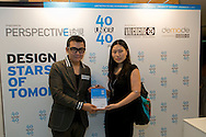 Jewellery and fashion designer Elaine Young receives her 40 Under 40 Perspective magazine award.