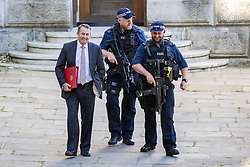 © Licensed to London News Pictures. 26/06/2018. London, UK. Secretary of State for International Trade Liam Fox (L) on Downing Street for the Cabinet meeting. Photo credit: Rob Pinney/LNP