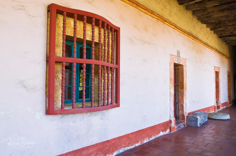 Windows and doors, Santa Barbara Mission (Queen of the missions), Santa Barbara, California