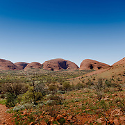 Walk in the Mount Olga in the Northern Territories.
