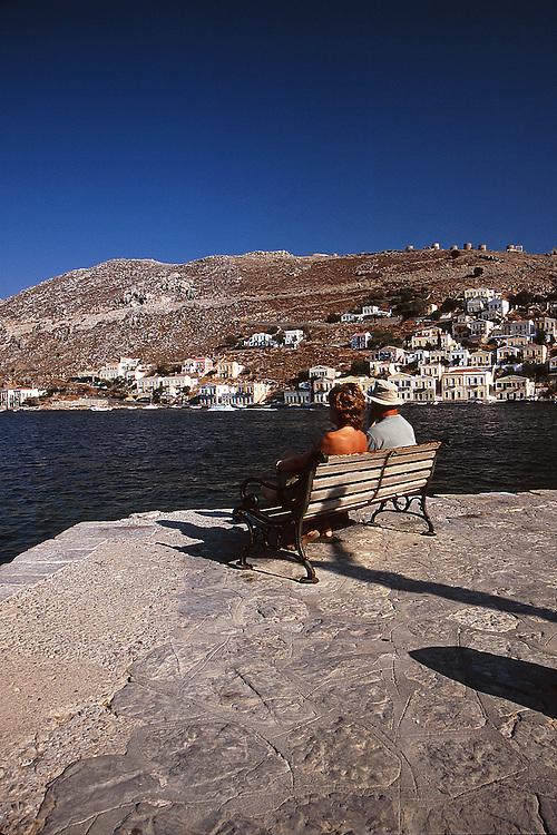 Yialos, Symi island, Dodecanese islands, Greece.