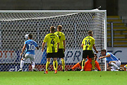 Southend United's Michael Turner (6) scores a goal 2-1 during the EFL Sky Bet League 1 match between Burton Albion and Southend United at the Pirelli Stadium, Burton upon Trent, England on 2 October 2018.