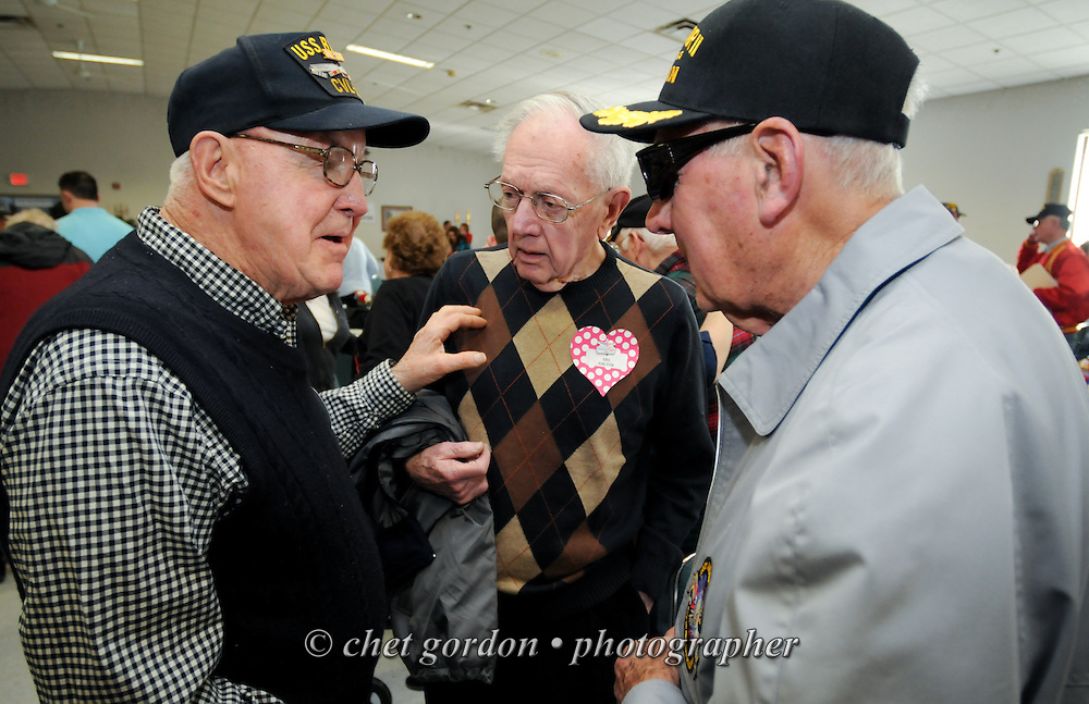 """Hudson Valley Honor Flight """"Meet and Greet"""" at the Walden Firehouse in Walden, NY on Sunday, April 6, 2014. One Hundred WWII Veterans and their escorts will be onboard the Hudson Valley Honor Flight's fourth flight from Stewart International Airport to Washington, DC on April 26th.  © Chet Gordon for HVHF"""