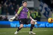Keiren Westwood (Sheffield Wednesday) about to make a save during the Sky Bet Championship match between Hull City and Sheffield Wednesday at the KC Stadium, Kingston upon Hull, England on 26 February 2016. Photo by Mark P Doherty.
