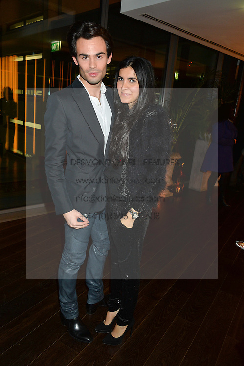MARK-FRANCIS VANDELLI and ? at the Launch Of Osman Yousefzada's 'The Collective' 4th edition with special guest collaborator Poppy Delevingne held in the Rumpus Room at The Mondrian Hotel, 19 Upper Ground, London SE1 on 24th November 2014, sponsored by Storm models and Beluga vodka.