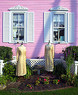 A disply of dresses is shown outside a clothing store, Sunday, August 11, 2002, in Cape May, New Jersey. (Photo by William Thomas Cain/photodx.com)