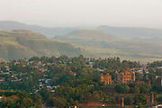 GONDAR, GONDAR/ETHIOPIA..View over downtown and the Palaces..(Photo by Heimo Aga)