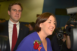 SCOTTISH PARLIAMENTARY ELECTION 2016 – Kezia Dugdale Scottish Labour Party and Daniel Johnson, Scottish Labour Party, at the Royal Highland Centre, Edinburgh with her partner Louise Riddell <br />