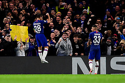 Cesar Azpilicueta of Chelsea celebrates scoring his sides first goal of the game  - Mandatory by-line: Ryan Hiscott/JMP - 10/12/2019 - FOOTBALL - Stamford Bridge - London, England - Chelsea v Lille - UEFA Champions League group stage