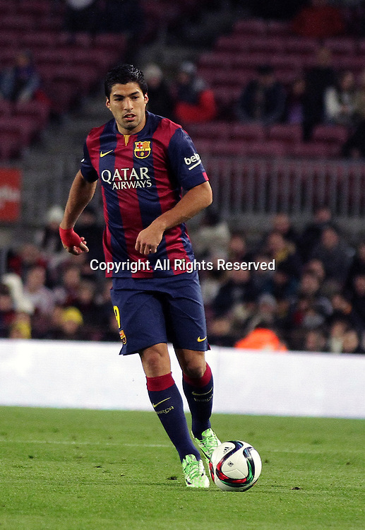 08.01.2015. Barcelona, Spain. Copa del Rey. Barcelona versus Elche CF. Suarez in action during the match