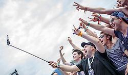28.07.2016, Schwarzlsee, Unterpremstätten bei Graz, AUT, Lake Festival, im Bild der Italienische DJ Rudy MC beim Selfie mit Fans // Italian DJ Rudy MC making a selfie with fans during the Lake Festival at the Schwarzl Lake, Unterpremstaetten at Graz, Austria on 2016/07/28, EXPA Pictures © 2016, PhotoCredit: EXPA/ Erwin Scheriau