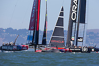 America's Cup 34<br /> Emirates Team New Zealand (NZL) challenger vs Oracle Racing (USA) defender<br /> 9.18.13. Second race cancelled due to too wind exceeding the wind limit.