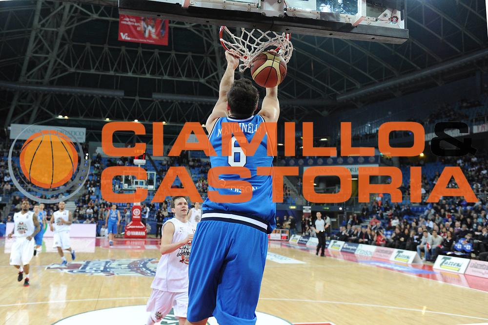 DESCRIZIONE : Pesaro Edison All Star Game 2012<br /> GIOCATORE : Stefano Mancinelli<br /> CATEGORIA : schiacciata<br /> SQUADRA : Italia<br /> EVENTO : All Star Game 2012<br /> GARA : Italia All Star Team<br /> DATA : 11/03/2012 <br /> SPORT : Pallacanestro<br /> AUTORE : Agenzia Ciamillo-Castoria/GiulioCiamillo<br /> Galleria : FIP Nazionali 2012<br /> Fotonotizia : Pesaro Edison All Star Game 2012<br /> Predefinita :