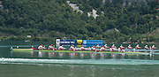 Aiguebelette, FRANCE. USA W=* heading for the finishing line at the 2014 FISA World Cup II. 13:39:03  Sunday  22/06/2014. [Mandatory Credit; Peter Spurrier/Intersport-images]