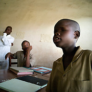 February 2008 - student at the  School for the Blind in Cotonou, Benin. The School takes 80 blind students surrounding villages and at no cost to their families teaches them geography, science, math and a work for the future. Though the school belongs to the state, it receives considerable funding from ONG.
