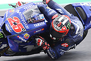 #25 Maverick Vinales, Spanish: Movistar Yamaha during Friday Practice at the MotoGP Gran Premio d'Italia Oakley at Autodromo del Mugello Circuit, Senni-San Carlo, Italy on 1 June 2018. Picture by Graham Holt.