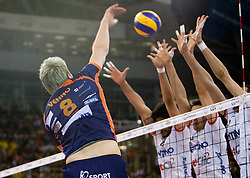 Venno Oliver of ACH  at 2nd Semifinal match of CEV Indesit Champions League FINAL FOUR tournament between ACH Volley, Bled, SLO and Trentino BetClic Volley, ITA, on May 1, 2010, at Arena Atlas, Lodz, Poland. Trentino defeated ACH 3-1. (Photo by Vid Ponikvar / Sportida)
