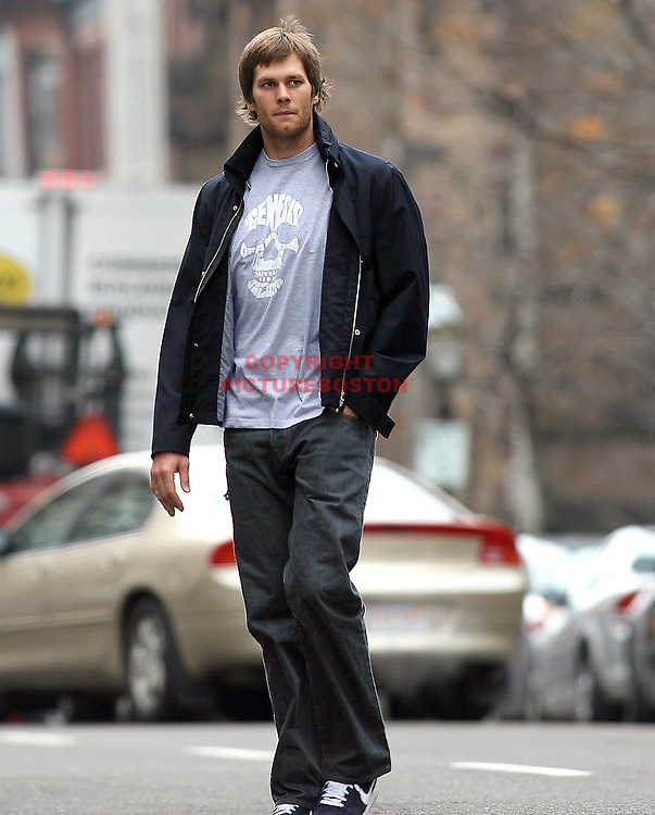 Tom Brady in and around Boston. Photo by Mark Garfinkel