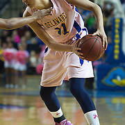 02/05/12 Newark DE: Delaware Junior Forward #11 Elena Delle Donne attempts to drives the lane during a Colonial Athletic Association game against the VCU Lady Rams, Feb. 5, 2012 at the Bob carpenter center in Newark Delaware.<br /> <br /> Special to The News Journal/SAQUAN STIMPSON